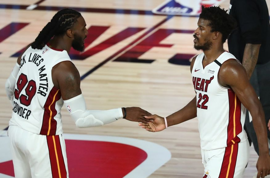 #mubb Still plenty of work to be done, but @CJC9BOSS and @JimmyButler helped give @MiamiHEAT a 1-0 lead over the Celtics with an OT win Tuesday night. #marquettetough