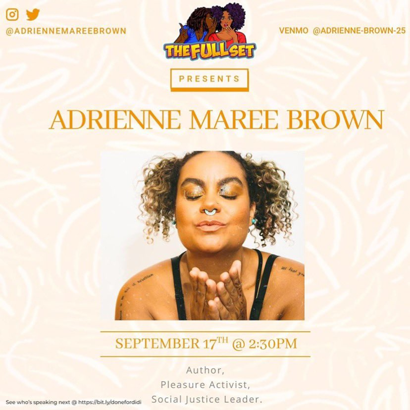 The Full Set (@nofillsplease) and @TheDiDiDelgado welcomes the incredible @adriennemaree! How can you possibly miss this episode? Tomorrow, September 17th @2:30 PM EST, live on Facebook: https://t.co/HJMyPLfZUN⠀ ~⠀ What are your burning questions for adrienne? Comment below!⠀ https://t.co/bmdjPvEhau