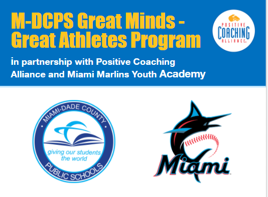 Excited to announce a partnership with @MarlinsImpact and @PositiveCoachUS Alliance to support our @MDCPS student-athletes.  The Great Minds - Great Athletes Program is focused on the development of the community's youth.  Read more about it here https://t.co/F9RmumajfM https://t.co/XatcD6ZQiD