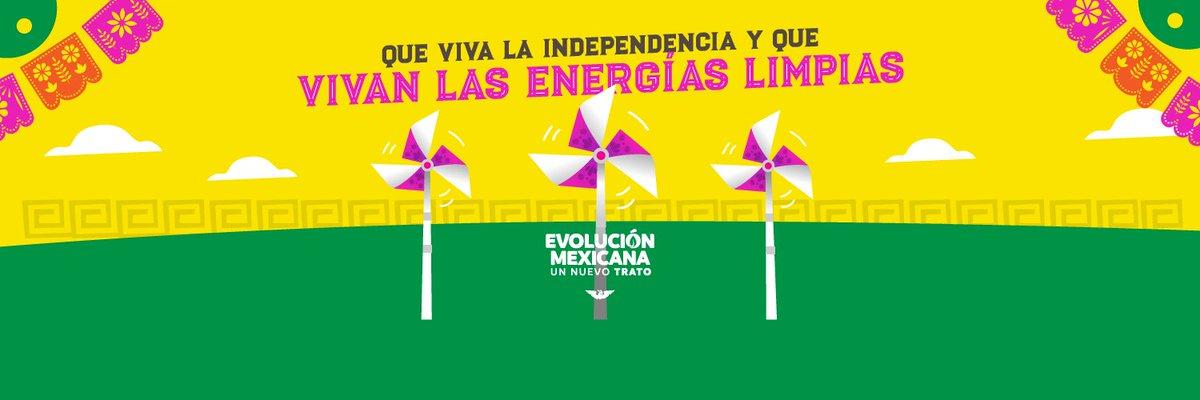 Así como hace 210 años hombres y mujeres valientes lucharon por la independencia de 🇲🇽, hoy México necesita construir un nuevo trato para independizarnos de las energías fósiles que contaminan y dañan nuestra salud, tener energías limpias y hacer posible la #EvoluciónMexicana. https://t.co/To93uKGzfW