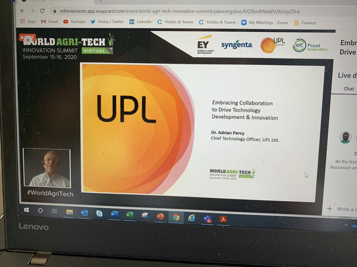 Thank you @worldagritech for the opportunity to talk about @UPLLtd & our approach to collaborate across the agri-food chain thru #OpenAg. https://t.co/zNmcfbu5bb