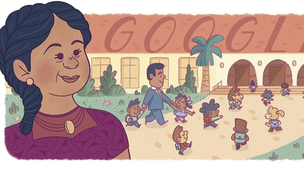 On yesterday, Google kicked off Hispanic Heritage Month with a Google Doodle of Felicitas Mendez. Mendez is known for her role in suing the school district in the town of Westminster, California, because her children were refused enrollment at a local school because of skin color https://t.co/ZgN87zezHV