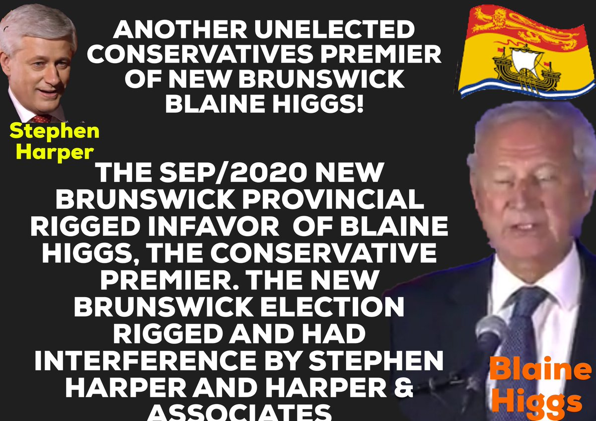 New Brunswick provincial election rigged, and had interference by Stephen Harper and Harper & Associates. For Blaine Higgs to be given a illegal majority government. Toronto, Ottawa, Coronavirus cases rise OPP, Pandemic, Justin Trudeau, Doug Ford, UK, Boris, Trump, USA, Peel https://t.co/fa89P2oa8P