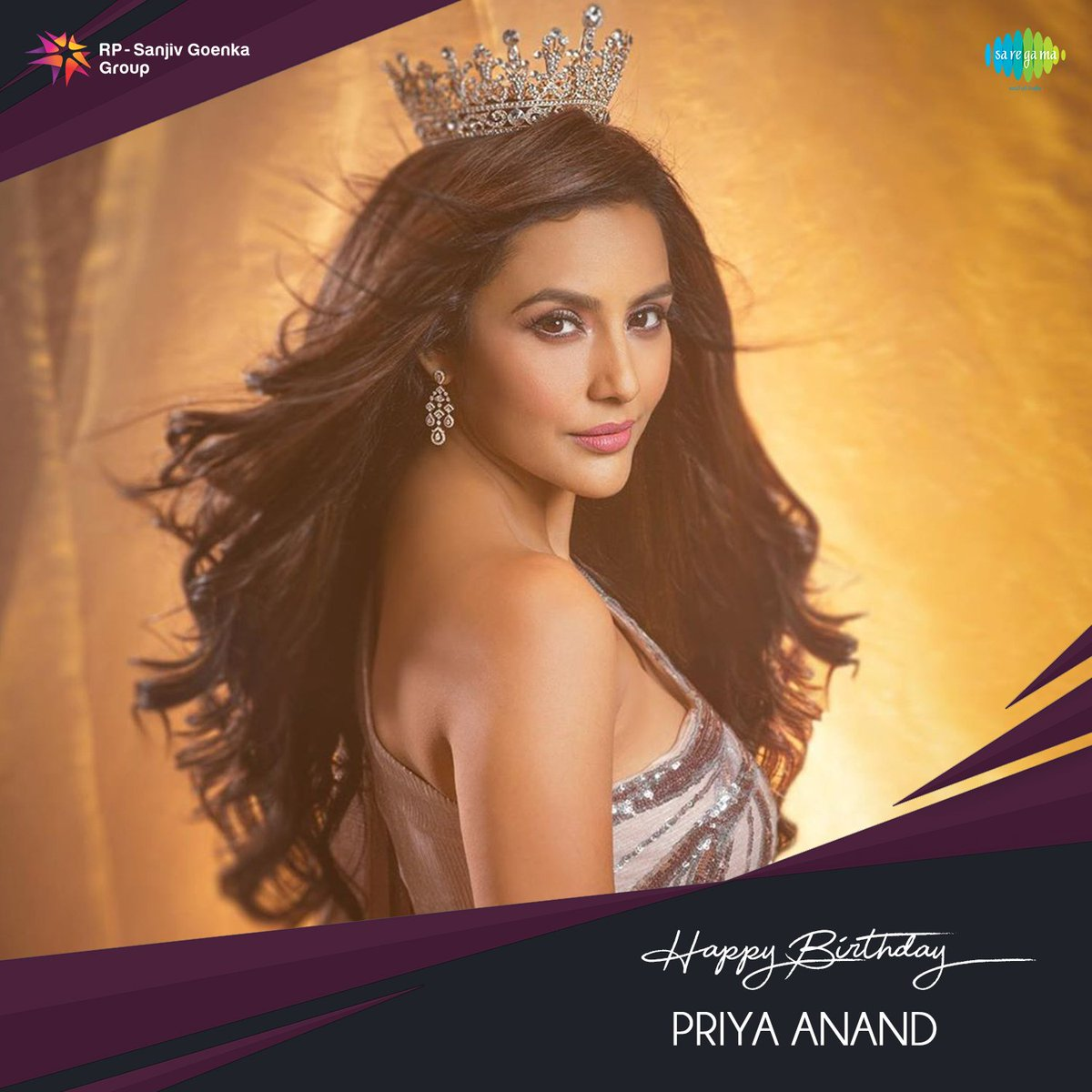 Birthday wishes to the dazzling diva @PriyaAnand   #SaregamaWishes #HappyBirthdayPriyaAnand #HBDPriyaAnand https://t.co/5Pe20DSFkl