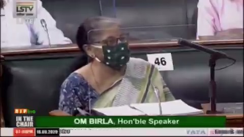 These amendments being brought are in the interest of the depositors: Smt @nsitharaman in her reply to the debate on Banking Regulation (Amendment) Bill 2020 in LS