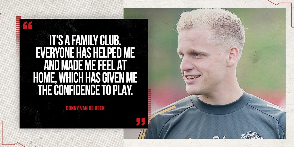 Already loving life in M16 📍 #MUFC @Donny_Beek6