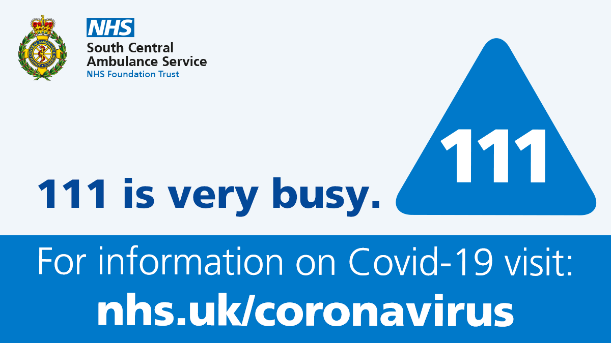 Our NHS 111 service is extremely busy again today & there may be a delay in answering your call.  You can access general health information about Covid-19 online 24/7 via your smartphone, tablet or computer.  Visit https://t.co/LrRS7SQIH2 https://t.co/Dn4sRXO2gm