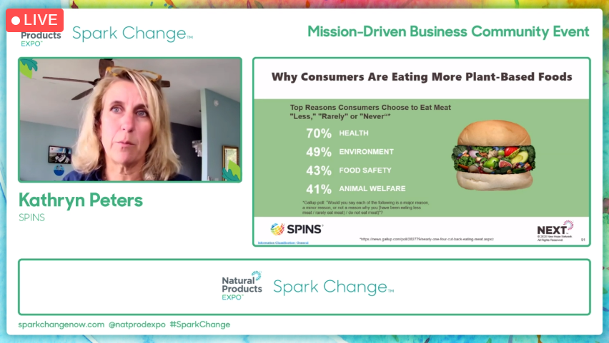 Plant-based products for the win! @SPINSllc's Kathryn Peters is currently diving into the reasons behind accelerating sales growth within the plant-based sector. #sparkchange https://t.co/DmpeQsSgan https://t.co/NJ6dkrRGYQ