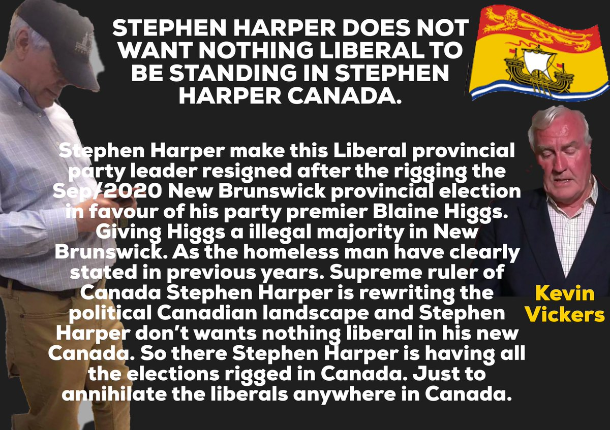 No more Liberals rule in Canada, Kevin Vickers resigned after losing his seat in New Brunswick rigged Sep/2020 Provincial election. The New Brunswick Provincial election was rigged by Stephen Harper and Harper & Associates. Toronto, Coronavirus, Pandemic, TDSB, Trudeau, Ford, OPP https://t.co/QmthflJQmD