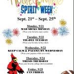 Image for the Tweet beginning: Next week is SPIRIT WEEK!