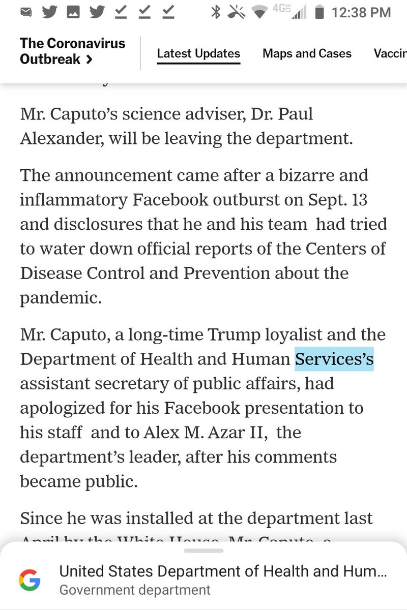 @nytimes The possessive of Health and Human Services is Health and Human Services', not Services's.  Three extra spaces.  @SherylNYT, maybe? https://t.co/chr1nenLGB
