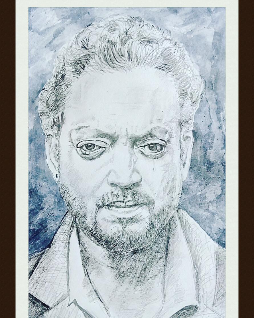Portrait Irfan khan Pencil sketch In the memory of beloved Irfan khan!   #irfankhan #bollywood #Pencildrawing #JurassicWorld #sketches #PortraitsOfPurposeIndia #portrait #skills https://t.co/kppEWc7r2a