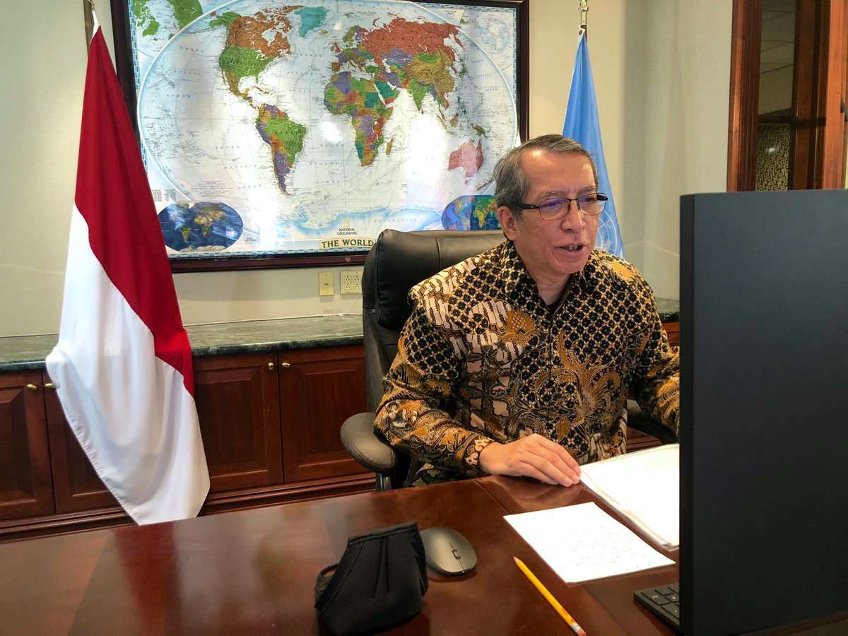 During #UNSC meeting on #UNMISS, Indonesia once again underscored that safety, security, & health of all peacekeepers, humanitarian workers, & UNMISS staff should be the main priority.  #IniDiplomasi #IndonesianWay https://t.co/bGXDtQJS9z