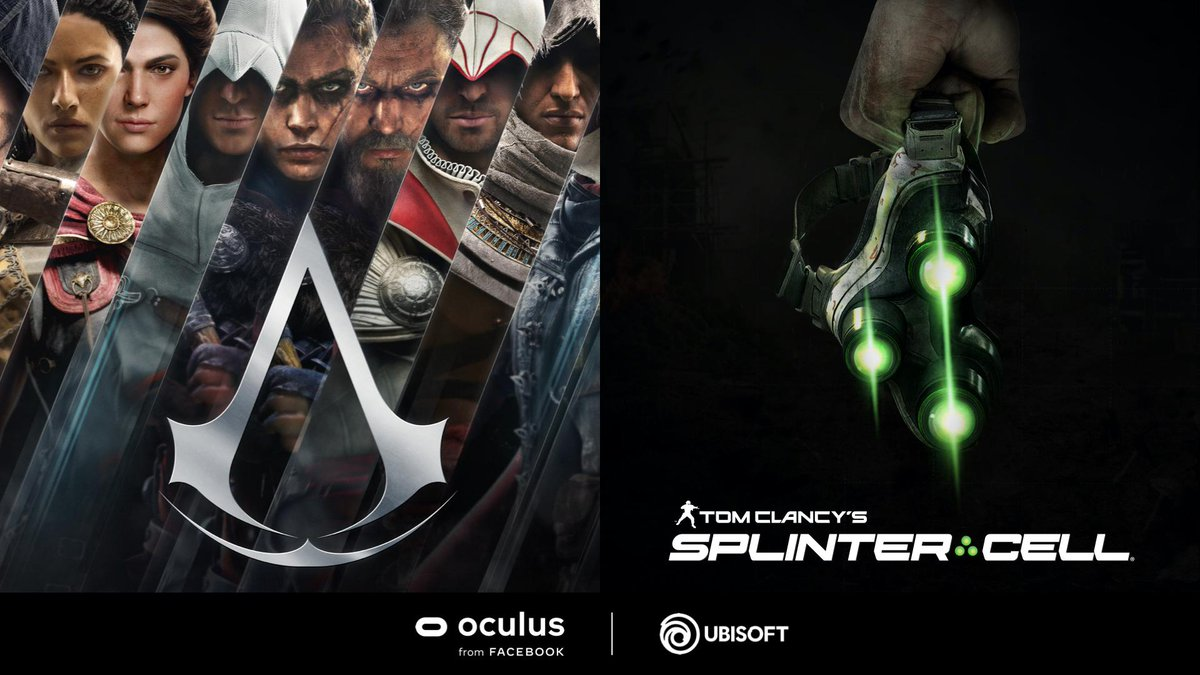 Ubisoft is bringing two of its AAA franchises to the Oculus platform with new, made-for-VR entries in the Assassin's Creed and Splinter Cell universes. More details to come. #FBConnect ocul.us/2E55gQX