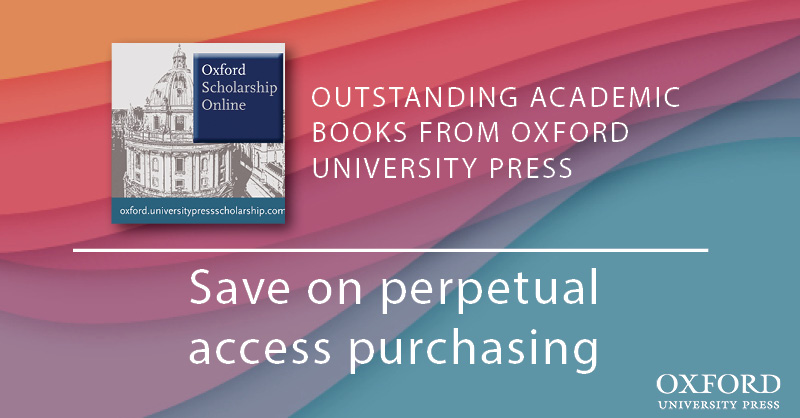 With over 16,000 books across 20 subject areas, Oxford Scholarship Online is an essential research resource for student, scholar, and academic alike. Find out how your institution can save via perpetual access purchasing: https://t.co/HiWiCPwtYM https://t.co/7VpXlwKW9b