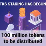 Image for the Tweet beginning: Staking has begun! 🔥🥂🚀 Holding