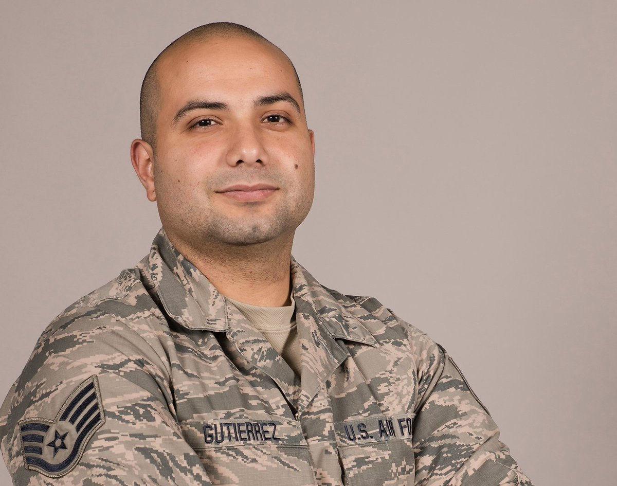 For #HispanicHeritageMonth, we're celebrating the stories of Hispanic & Latino Airmen!  @188thWG SSgt. Emmanuel Gutierrez is a first-gen American whose parents emigrated from Mexico. Gutierrez enlisted in 2012 to help pay for college. Today, he's pursuing a doctorate in business. https://t.co/wQK0MtKOoj