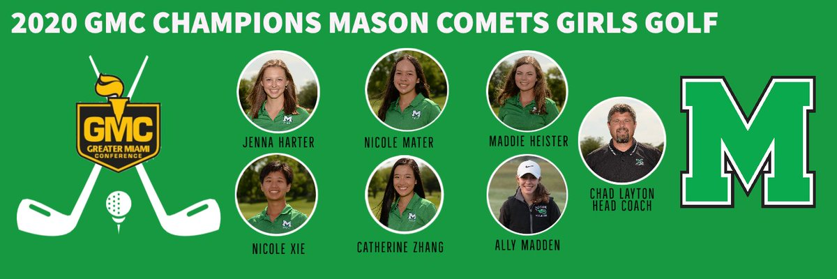 Your 2020 @gmcsports Girls Golf Champions. @MasonGirlsGolf Champs. https://t.co/d4Ab5AZEPL