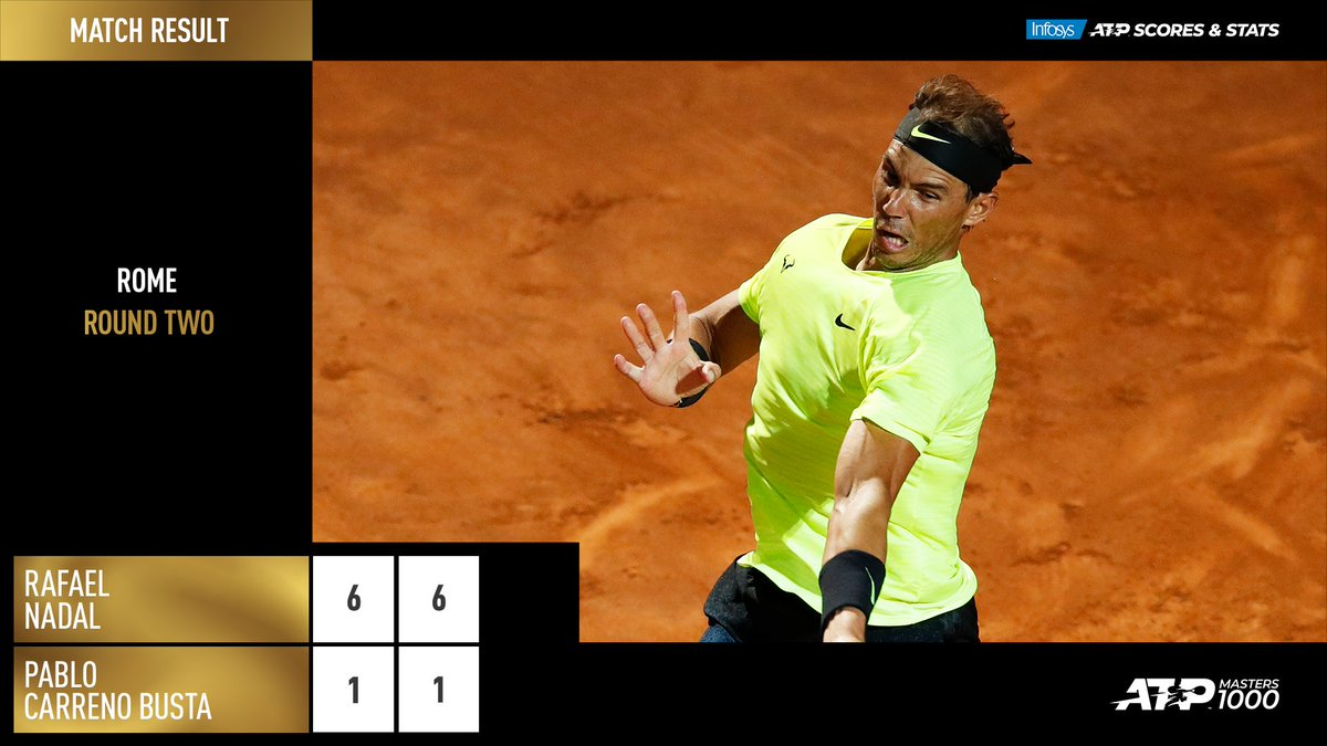 Back with a BANG!  @RafaelNadal returns to the ATP Tour in style 💪 #IBI20 https://t.co/uhPaEpmpkm