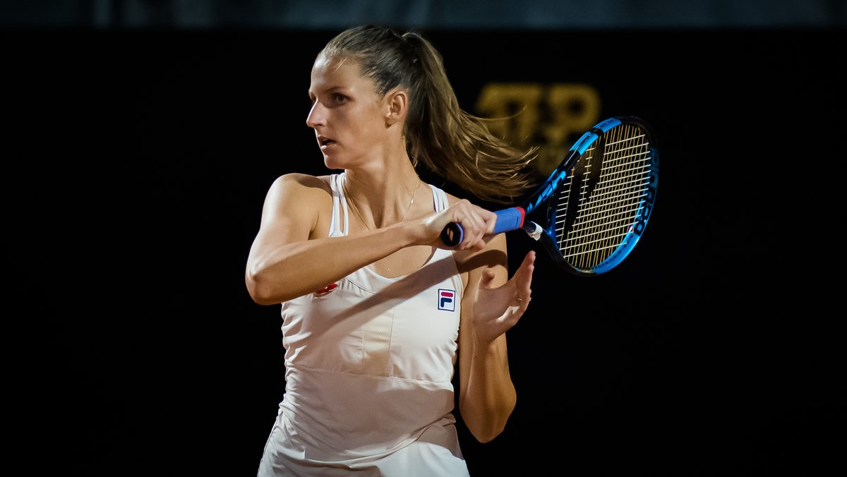 Strong start from the defending champion 💪  @KaPliskova struck 26 winners and broke Strycova four times en route to a 6-3, 6-3 win at the @InteBNLdItalia --> https://t.co/eJDUsptcs6 https://t.co/WWEExZis0H