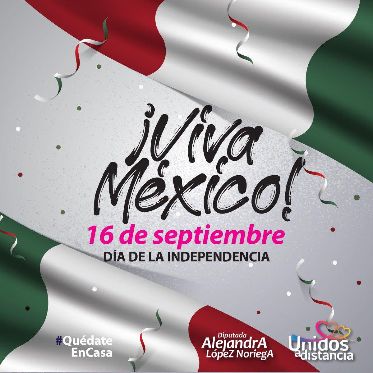 Nos mueve el orgullo por nuestra nación, nos une la necesidad de verla fortalecerse y crecer. Celebremos este día siendo buenos mexicanos y mexicanas. https://t.co/j21dzgBTq1