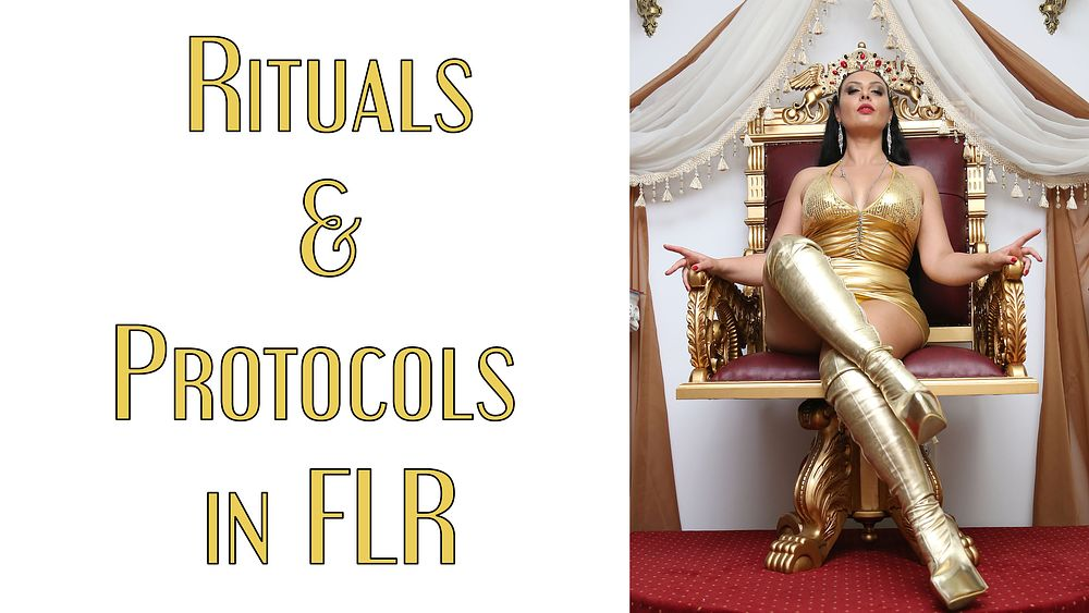 Rituals and protocols in Female Led Relationships  The importance of rituals and protocols in a Female Led Relationship. This is a 101 lesson for Dominant Women and submissive males...  Watch Clip: https://t.co/Ue4Nrgus0p (Free)  Follow: @Mistress_Ezada https://t.co/aRYAKSZeQE