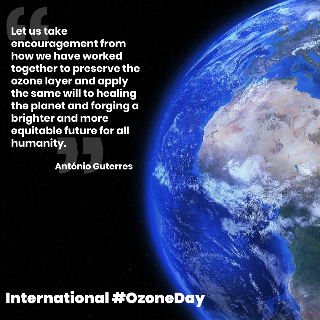 Today is the International Day for the Preservation of the Ozone Layer. Action and suppression of ozone-depleting substances have helped to repair and protect it. Let's celebrate our successes in protecting our ozone layer which shields us from the sun's harmful rays. #OzoneDay https://t.co/2jPZFWe5CC