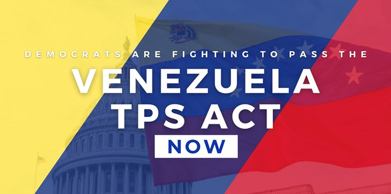It's been more than a year since the House came together to pass the #VenezuelaTPS Act.  It's been more than a year of the Senate GOP blocking that bill to protect Venezuelans from deportation.  Headed to @DSenFloor to try to pass it TODAY.  WATCH 👉 https://t.co/WPEUiCEtcq https://t.co/eTE43jyNVi