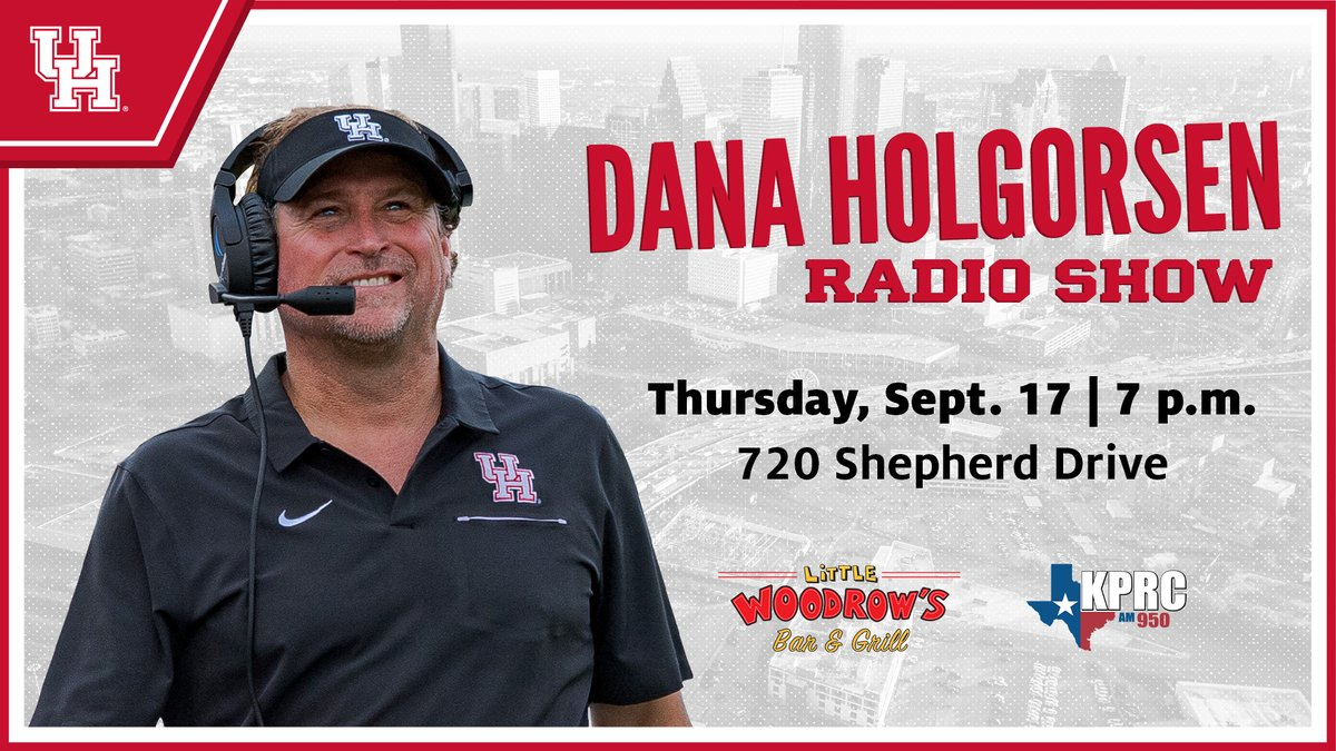 Join us tomorrow night for the first segment of the Dana Holgorsen Radio Show!   Meet us at @littlewoodrows!   #GoCoogs https://t.co/2Fz3wAlPeT