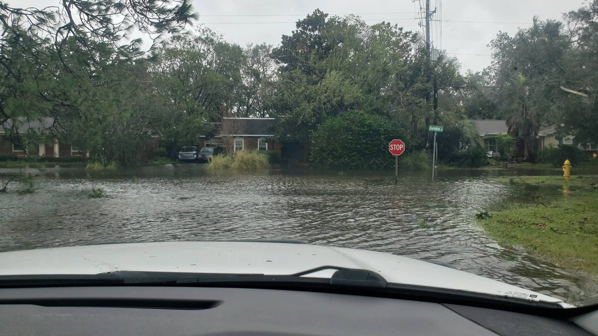 Please stay off of the roads. Power lines are down.  Debris is in the water. Do not drive through neighborhoods with flooding as it will push water into houses. https://t.co/werZN7o9B3