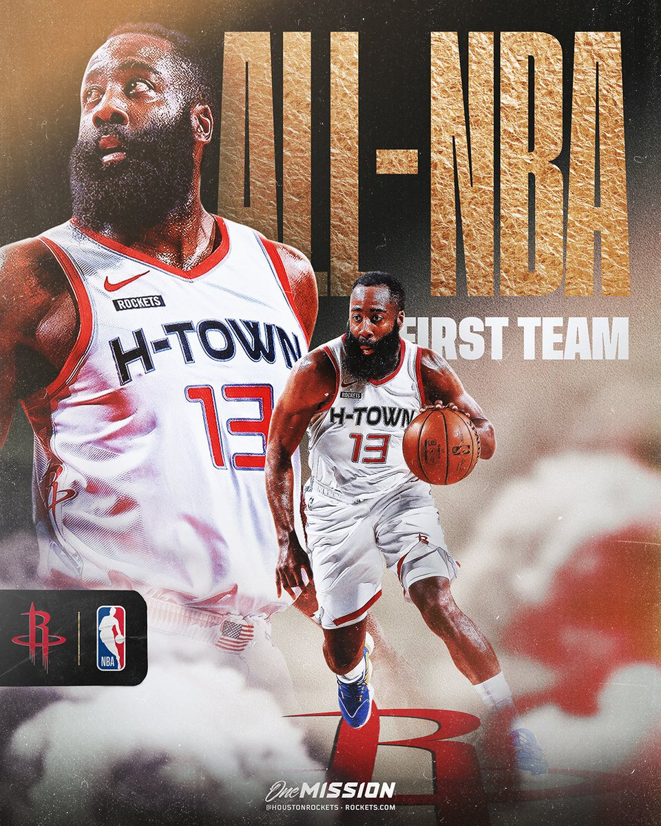 Congrats to @JHarden13 on earning All-NBA First Team honors! https://t.co/6wlifPvOAd