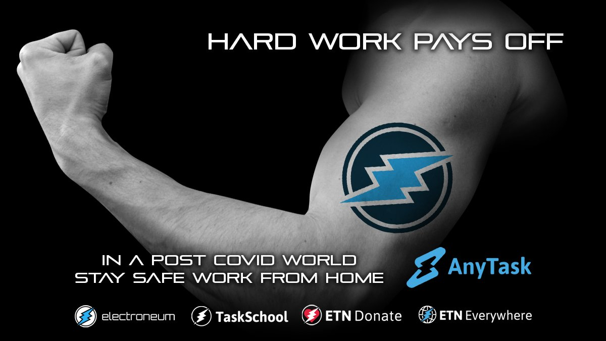 I am back & keep supporting best #Crypto at the market & this is #Electroneum #ETN with their platforms #anytask #taskschool #ETNdonate #ETNeverywhere. Join us & you can be next lucky boy that get some $$ when new bullrun starts #altcoinnews #blockchain #Fintech #cryptocurrency https://t.co/tkCoUMUflv
