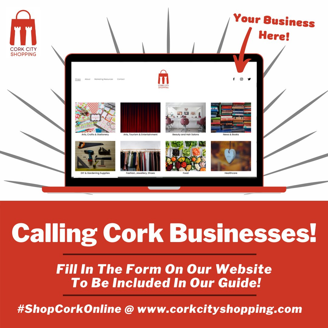 If you're a business based in Cork with an online presence, fill out the form under the 'Contact Us' page, tell us which category your business fits and we'll add you to our directory - free of charge!#ShopCorkOnline #LoveCork #PureCork #PureCorkWelcomes https://t.co/3jYLQhBD3k https://t.co/N5CGi5GhJk