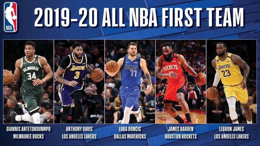 The All-NBA teams: