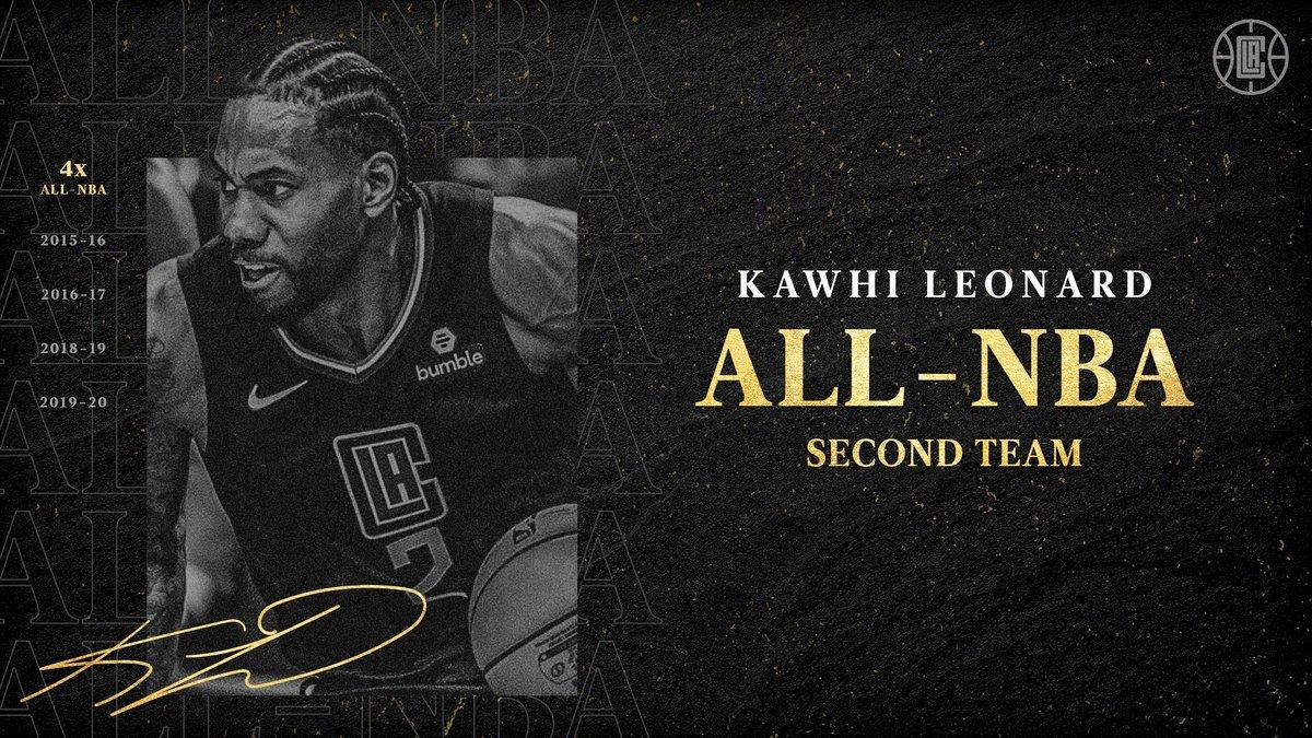 Kawhi Leonard's 4th All-NBA honor. https://t.co/TB1XGdfEkd