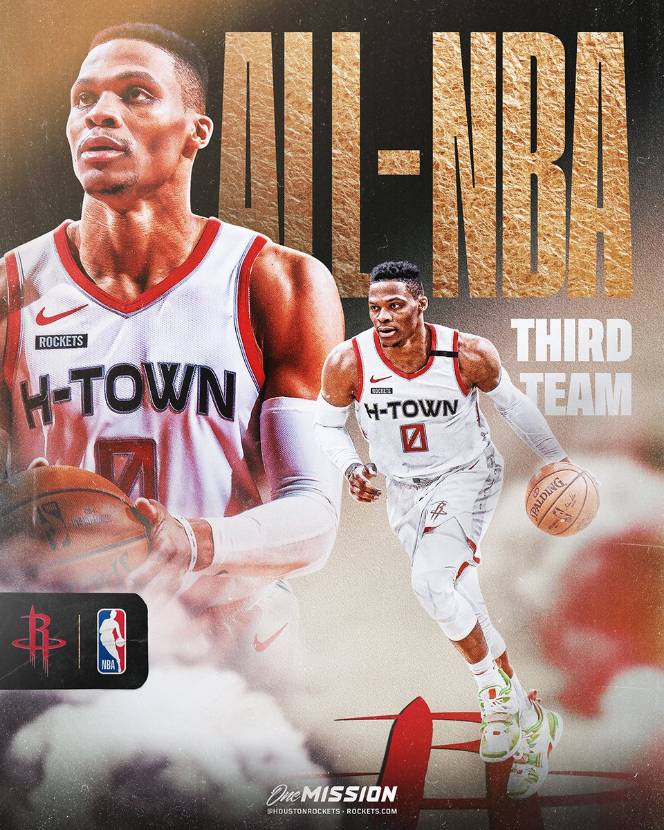 Congrats to @russwest44 on earning All-NBA Third Team honors! https://t.co/ddU1MPte6T
