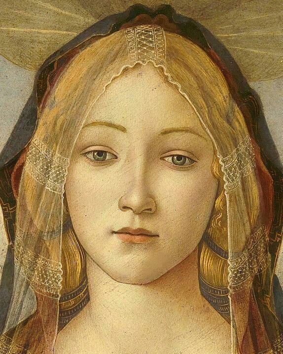 Detail from a Botticelli portrait of Madonna and Child. https://t.co/4nLsFYJXci