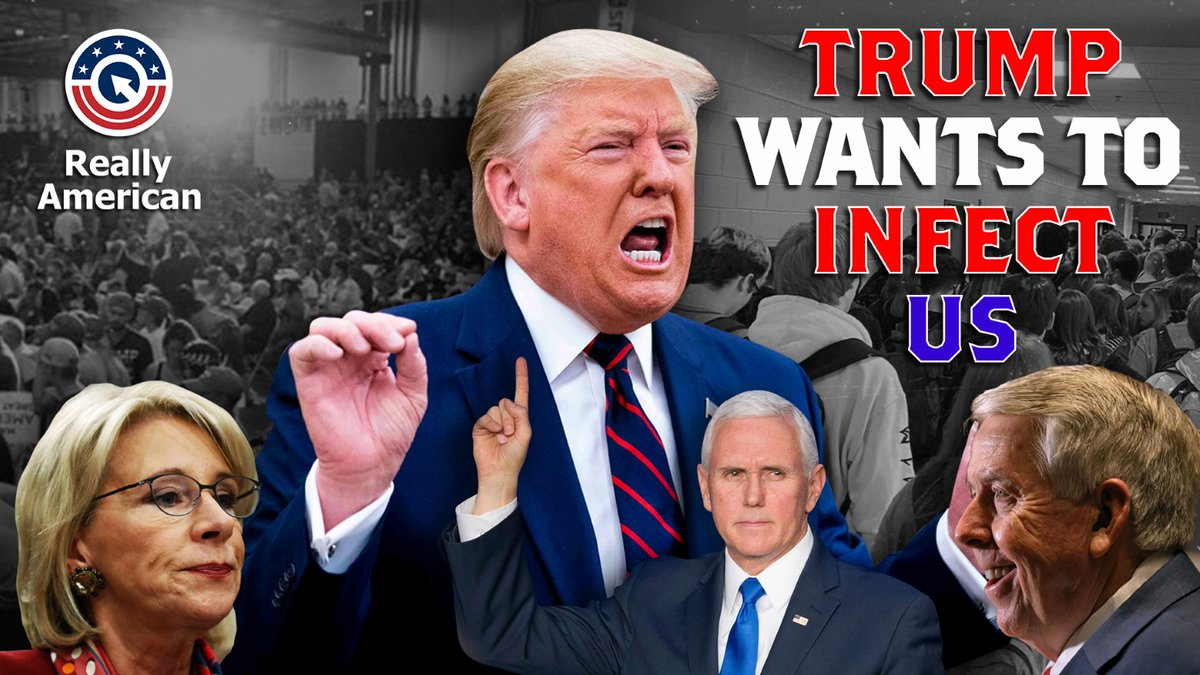 Never before, in the history of America, has a President tried to DELIBERATELY infect his citizens. Until now.  We need 5,000 RETWEETS in 2 hours on this one.  #TrumpWantsToInfectUS  https://t.co/lDjR4taz59