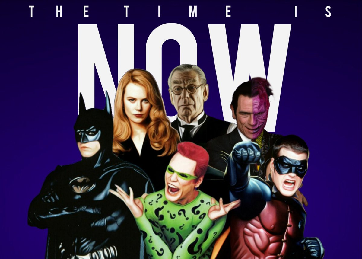 The time is now to #ReleaseTheSchumacherCut   Let's get this done for Joel Schumacher 🕊  Batman Forever Red Book Edition  Who wants to see it?  @hbomax @ATT @WarnerMedia https://t.co/Nwlcw4a8k9