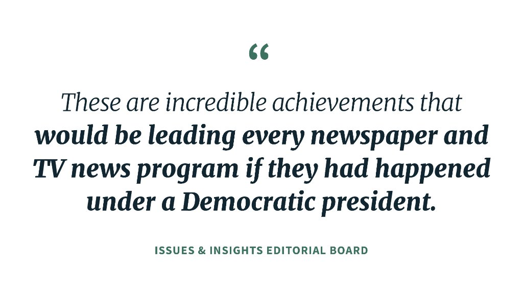 The absent media coverage of President @realDonaldTrumps economic wins is even more astounding when you consider that the gains were among lower-income families, women, blacks and Hispanics, writes the I & I editorial board. More in West Wing Reads: 45.wh.gov/qPpLTE