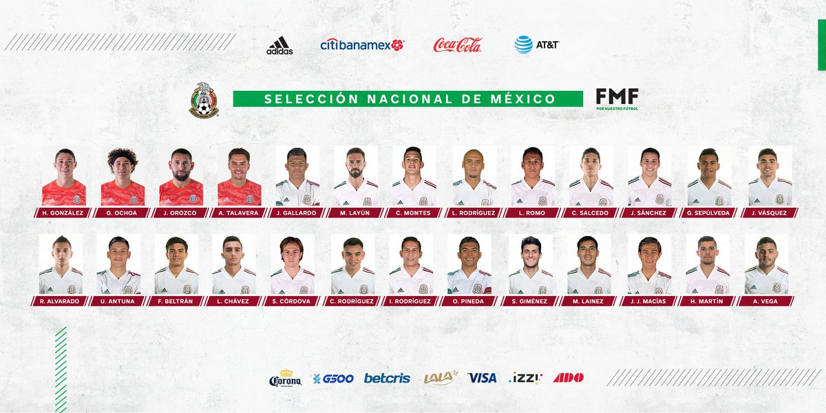 ¡Convocatoria Azteca! 😎💚 Estos son los jugadores convocados por Gerardo Martino para el primer microciclo del 2020. 🇲🇽 Entre ellos destaca el Tuzo Luis Chávez. 🐹⚪🔵  #OrgulloTuzo #TeJuroQueTeAmo💙 https://t.co/VSfeBBX3xZ