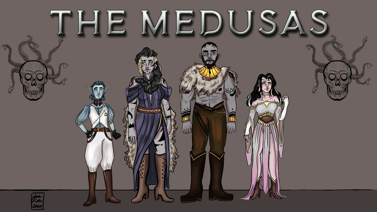 The Medusas will be live at 4 pm CST.  Find out who dies. https://t.co/tYv3X3eFWS  #dnd #actualplay #dnd5e #dungeonsanddragons #SupportSmallStreamers https://t.co/XanOB961qQ