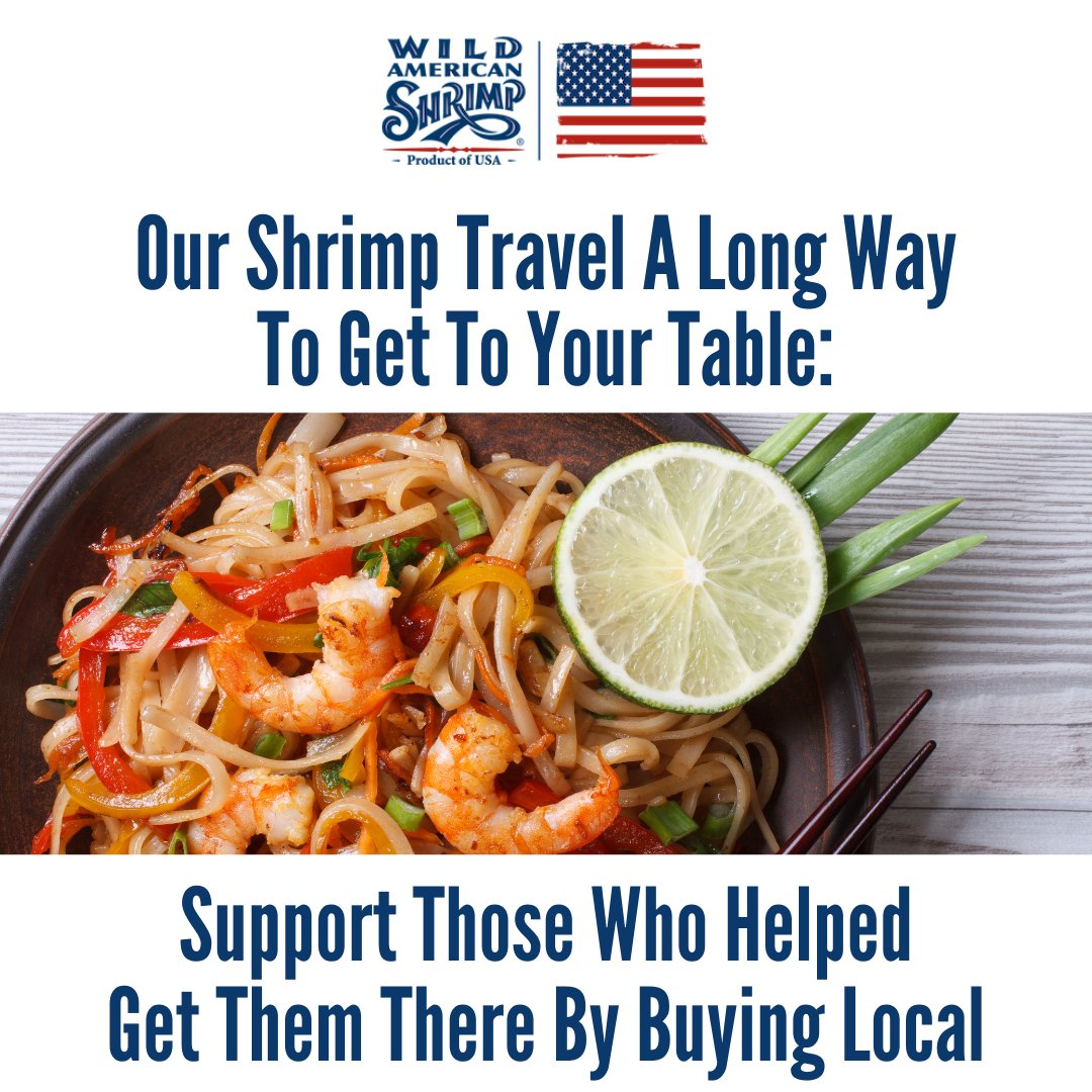 Whether you're buying shrimp from your local grocery store or getting them delivered from your favorite restaurant, be sure to always get wild-caught, American shrimp! Learn more about our delicious Wild American Shrimp at https://t.co/lXQKcR5SXI! #shrimp #buylocal #wildcaught https://t.co/8p2iHlJiMM