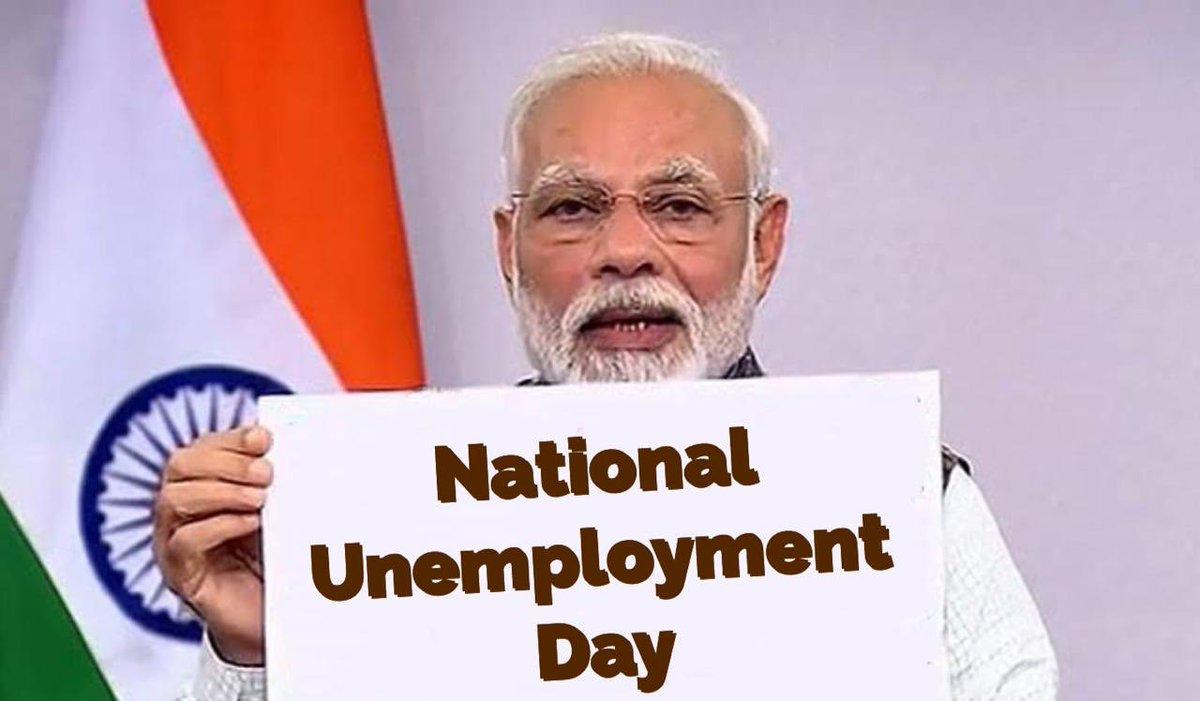 #NationalUnemploymentDay #राष्ट्रीय_बेरोजगार_दिवस https://t.co/5Lg2taEA8w