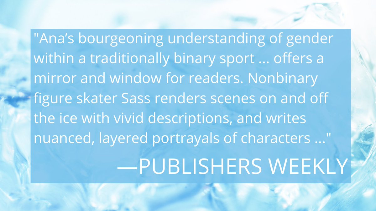 Woop woop! Another great review for ANA ON THE EDGE, this time from Publishers Weekly! 🌈   📖 Read the full review here: https://t.co/23q1bwEAZV  🏳️🌈 ANA comes out on October 20! Please consider preordering from your favorite indie: https://t.co/9C3kFEWNN4 https://t.co/UHPdZEFuBh