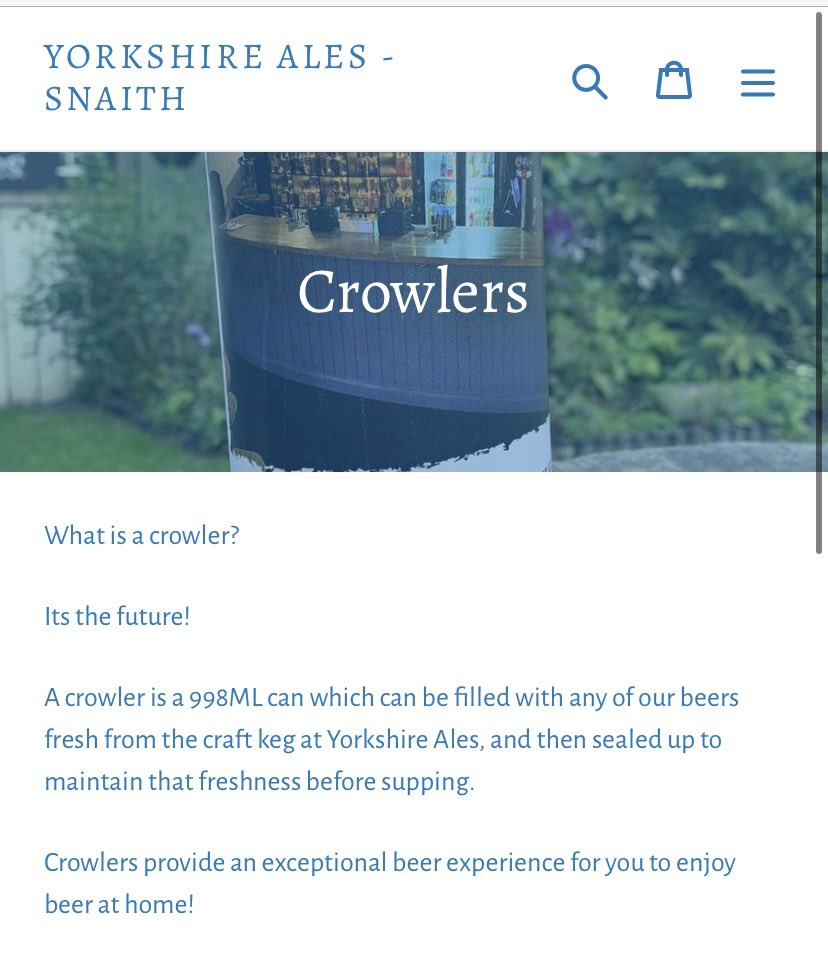 Our #Yorkshire #CraftKeg lines are available in #Crowlers to take away! Why not head over and take a look? https://t.co/hWREsse7tf https://t.co/HbHNUOUJR8