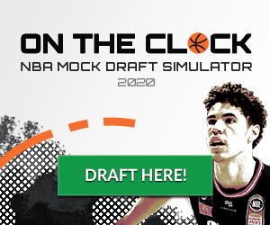 With the #NBA playoffs moving into conference finals, the NBA has announced the new 2020 NBA Draft date will be November 18!   Simulate the 2020 NBA Draft and be the GM for your team with On the Clock:  https://t.co/6GnvSSy65z  #NBA #NBADraft #OntheClock #mockdraft https://t.co/NaXI38GRIG
