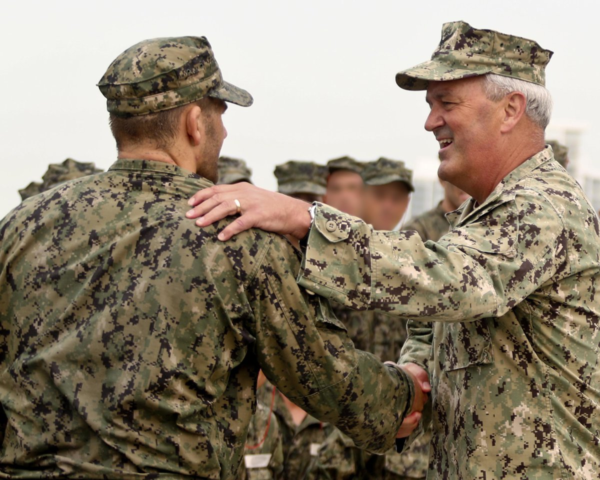 Thank you, Sir! Prior to last week's change of command ceremony, #USNavy Rear Adm. Collin Green secured Hell Week for candidates in training to earn qualification as SEALs. #perseverance #commitment https://t.co/WEnlKldSQ1