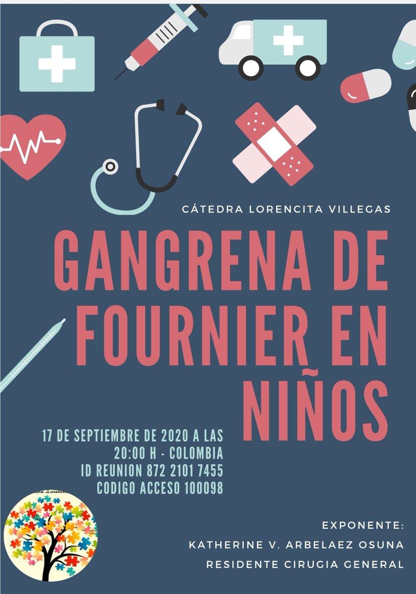 Invitados a nuestro webinar de mañana : Gangrena de Fournier en Pediatría  Fecha : jueves 17 sep 2020 Hora :08:00 PM Bogotá   Unirse a la reunión Zoom  https://t.co/8kLIdWaF9l   ID de reunión: 872 2101 7455  Código de acceso: 100098  #some4pedsurg https://t.co/02S4Pwgj3Q