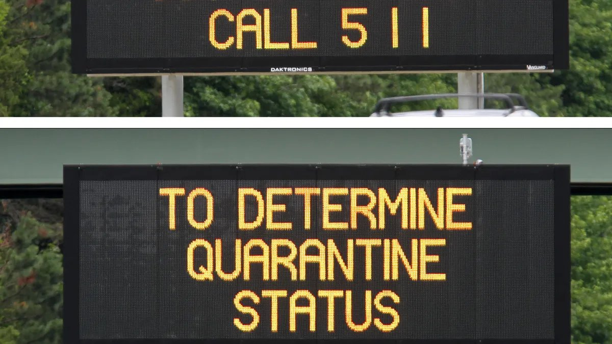 Replying to @RespectableLaw: 2020 in dystopian electronic signs